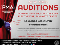 NEW TIME: Auditions for fall production 'Caucasian Chalk Circle'