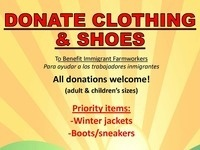 Friends in the Field Clothing & Shoe Drive for Immigrant Farmworkers