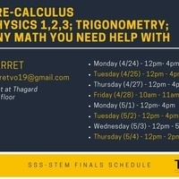 SSS-STEM: Math and Engineering Tutoring for Finals