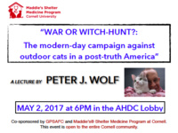 """War or Witch-hunt?: The modern-day campaign against outdoor cats in post-truth America"""