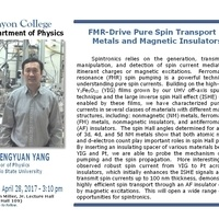 """FMR-Drive Pure Spin Transport in Metals and Magnetic Insulators"" by Fengyuan Yang"