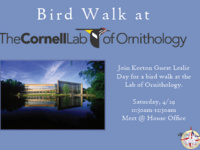Bird Walk at the Cornell Lab of Ornithology
