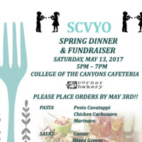 SCVYO Spring Dinner and Fundraiser