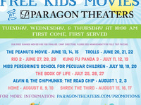 Free Kids Movies at Paragon Theaters
