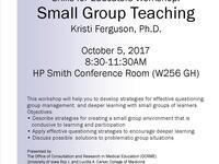 Skills for Educators Workshop: Small Group Teaching