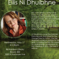 Women Writing (in) Ireland: Reading and Remarks by Eilís Ní Dhuibhne