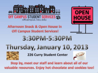 Off Campus Student Services Open House