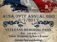 Annual picnic/BBQ with Fort Leonard Wood leaders