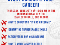 "Beyond ""It Was Awesome!"" Study Abroad & Your Career Workshop"