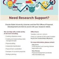 Research Support Services at the MagLab: Office of Proposal Development and FSU Libraries Office Hours