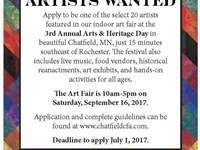 Call for Artist Vendors for 3rd Annual Arts & Heritage Day