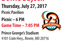 Bowie Baysox Baseball Outing