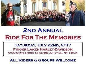 Twin Tiers Honor Flight: 2nd Annual Motorcycle Ride For The Memories & Reunion BBQ