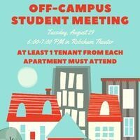 Mandatory Off-Campus Student Meeting