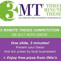 Three Minute Thesis Competition with GWISE - Graduate Women in Science and Engineering