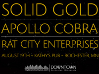 Solid Gold, Apollo Cobra, and RCE live at Kathy's Pub