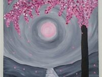 Painting Party - Flowering Tree (Fundraiser for Barbara Nelson)
