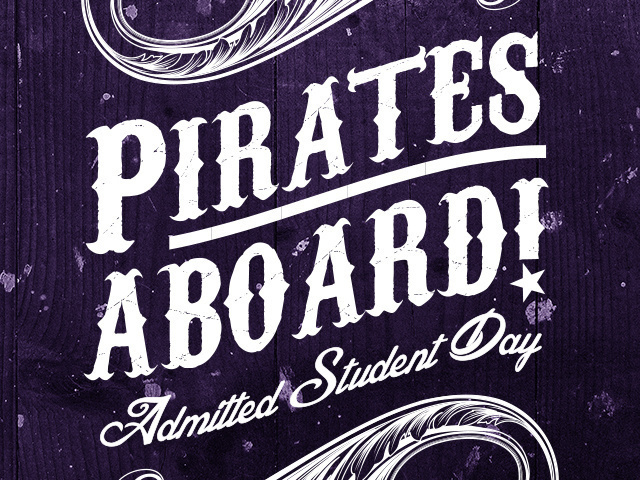 Pirates Aboard! Admitted Student Day 2018