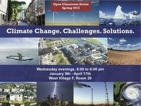 Open Classroom Series: Climate Change. Challenges. Solutions.