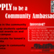 Community Ambassador Info Session