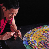 Sand Painting of Compassion Mandala
