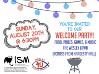 ISM & Wesley Welcome Party