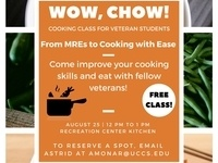 Wow, Chow!  A cooking class for student veterans