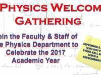 Physics Welcome Celebration 2017