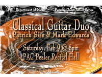 Faculty Artist Series: Patrick Sise & Mark Edwards, Classical Guitar Duo