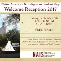 Welcome Reception: Native American & Indigenous Student Orgs.
