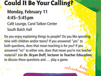 Coffee House - Teaching in K-12: Could It Be Your Calling?