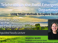 College of Public Health Distinguished Faculty Lecture: Telehealth in the Rural Emergency Department