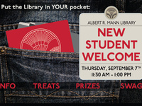 Mann Library New Student Welcome