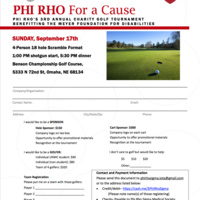 Phi Rho for a Cause