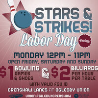 Labor Day Bowling & Billiards Specials!