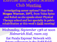 Exercise and Sports Science Club Monthly Meeting