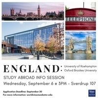 Study Abroad Info Session: England