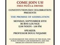 CONSTITUTION DAY CELEBRATION - The Promise of Assimilation