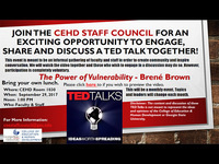CEHD Staff Council TED Talk Viewing and Discussion
