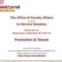 OFA September In-Service Session: Promotion & Tenure