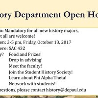 History Department Open House
