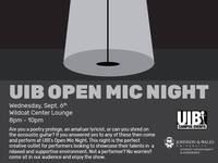 UIB Open Mic Night