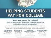 Helping Student Pay for College Resource Fair