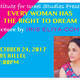 """""""Every Woman has the Right to Dream"""" - A Lecture by Iris Eliya-Cohen"""
