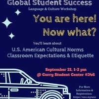 Global Student Success Workshop: You're Here! Now What?