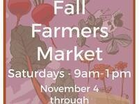 Fall Indoor Farmers Market @ Whitehouse-Crawford Restaurant