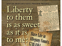 CANCELLED: Presentation by Dr. Constance McGovern on Slave Life in Allegany County
