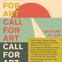 Call for Art - Green Arts Festival 2017