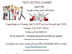 New Dawn Theater:  Teen Acting Class