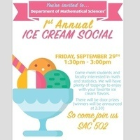 1st Annual Mathematical Sciences Ice Cream Social
